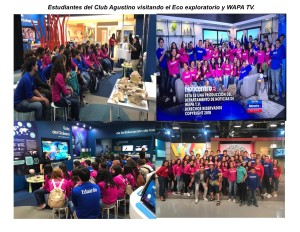 Club Agutino en Ecoexploratorio y WAPA TV