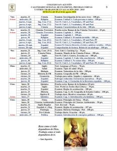 03 7mo. a 12mo. Calendarizacion de Evaluaciones y Trabajos