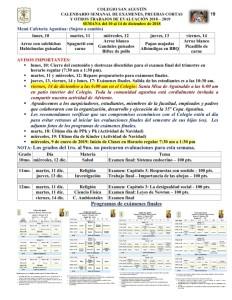 19 Calendarizacion de Evaluaciones y Trabajos del 10 al 14 de diciembre de 2018_001
