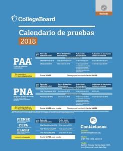 ColleBoard Calendario 2018