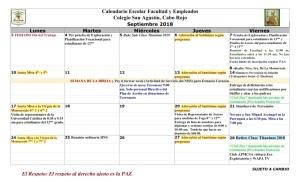 02 PADRES CSA Calendario septiembre 2018