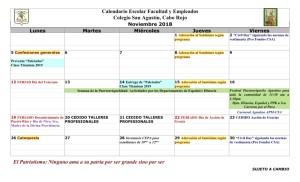 04 PADRES CSA Calendario noviembre 2018