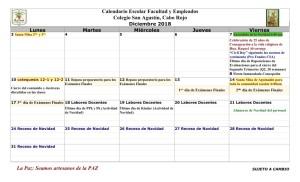 05 PADRES CSA Calendario diciembre 2018