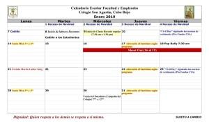 06 PADRES CSA Calendario enero 2019