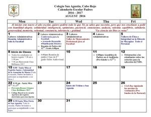 1 CSA Calendario AGOSTOS 2016