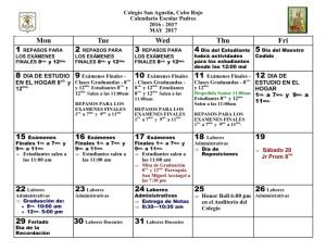 10 CSA Calendario MAYO 2017