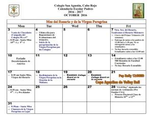 3 CSA Calendario OCTUBRE 2016