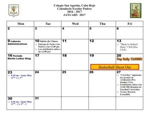 6 CSA Calendario ENERO 2017