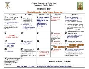 CSA Calendario PADRES 2017-2018 002 OCTUBRE 2017
