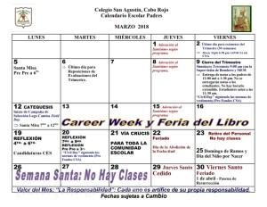 CSA Calendario PADRES 2017-2018 007 MARZO 2018